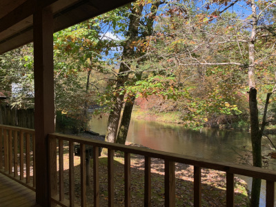 cabin porch view